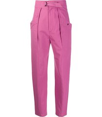 isabel marant étoile high-rise belted trousers - pink
