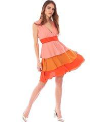 short dress with flounds
