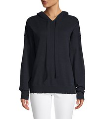 nox patch cashmere hoodie