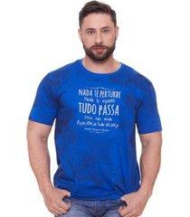 camiseta nada te perturbe ms6072 ágape masculina - masculino
