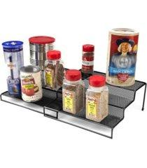 mind reader 3 tier metal mesh multi purpose kitchen storage organizer steps, 2 pieces