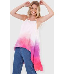 regata my favorite thing(s) alongada tie dye off-white/rosa