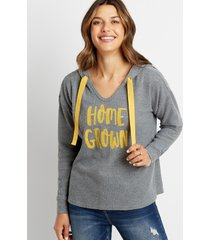 maurices womens gold homegrown waffle knit hoodie