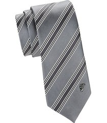 textured diagonal stripe silk tie