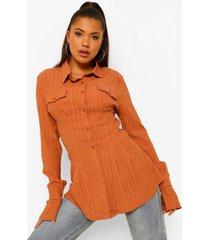getailleerde blouse met textuur, rust