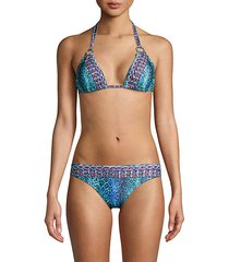 2-piece beaded animal-print bikini set