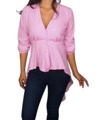 blusa colombiana lady rosada daxxys jeans