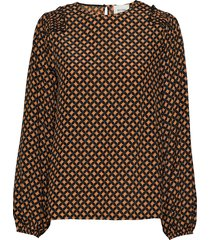 sirius ls blouse blouse lange mouwen multi/patroon second female