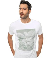 camiseta ck slim folhagem masculino - masculino