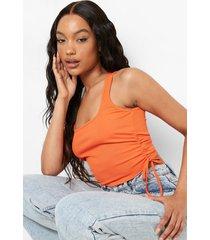 geplooid geribbeld hemd, orange