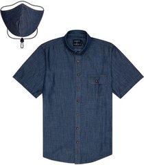 camisa  tapabocas colección antiviral para hombre 08058