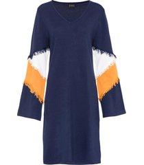 abito in maglia con frange (blu) - rainbow