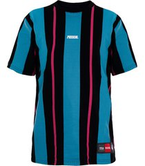 camiseta prison long stripes blue and pink
