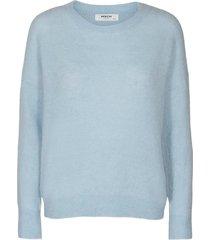 moss copenhagen pullover femme alpaca blauw