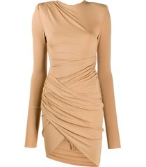 beige asymmetric dress