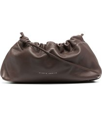 studio amelia mini drawstring bag - brown