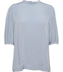 aram ss blouse 12949 blouses short-sleeved blauw samsøe samsøe