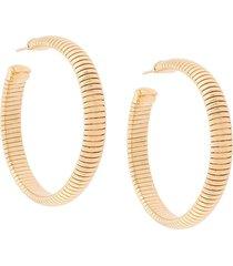 gas bijoux milo ribbed earrings - gold