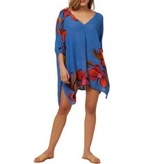 women's o'neill tessa cover-up dress, size x-small/small - blue