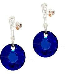 aros paris con swarovski® bermuda blue joyas montero