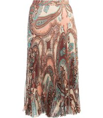 blumarine pleated skirt silk lurex jacquard