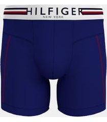 tommy hilfiger men's hilfiger microfiber boxer brief blue - xl
