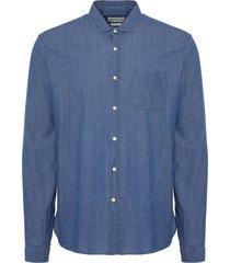 oliver spencer indigo eton shirt osms69b