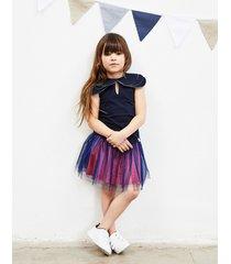 bluzka dziecięca tea party navy blouse