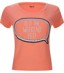 camiseta descanso is it the weekend yet color rosado, talla l