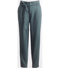 loft loft plus tie high waist linen cotton tapered pants
