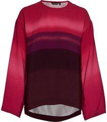 osviitta selänne shirt blouse lange mouwen rood marimekko