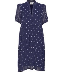 kailagz short dress hs20 knälång klänning blå gestuz