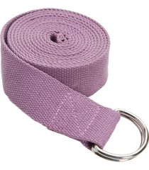 everyday yoga 8 foot strap d-ring lilac cotton/polyester