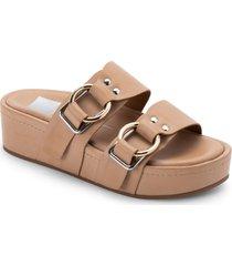 women's dolce vita cici platform slide sandal, size 9.5 m - pink