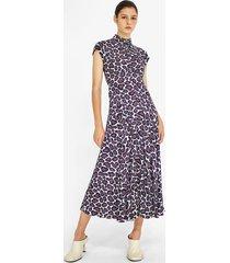 proenza schouler animal print mockneck dress mint/grey/purple 4