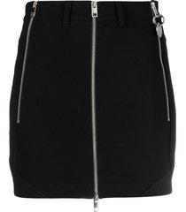 diesel zip-detail mini skirt - black