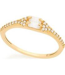 anel skinny ring cristal e zircônias rommanel