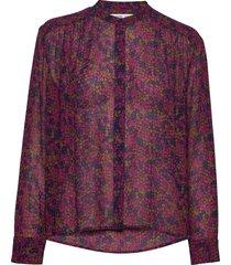 elmy shirt aop 9695 blus långärmad multi/mönstrad samsøe samsøe