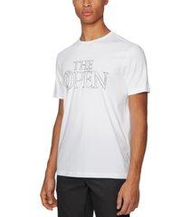 boss men's tee bo white t-shirt