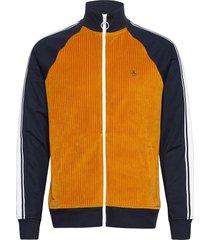 corduroy velour track jacket sweat-shirt tröja blå original penguin