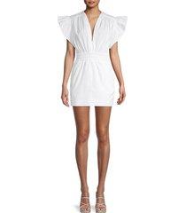 iro women's galena cotton mini dress - white - size 36 (4)