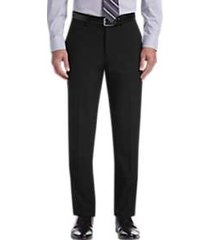 haggar jmh premium black 4-way stretch slim fit dress pants