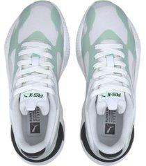tenis - lifestyle - puma dama rs-x3 plas tech  - verde manzana - ref : 37164002
