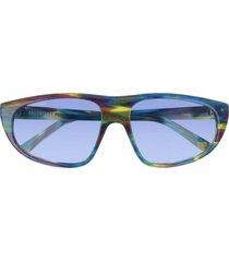 balenciaga balenciaga bb0098s blue sunglasses