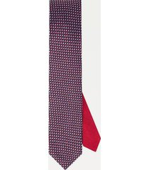 tommy hilfiger men's slim wid microprint tie navy/red/white -