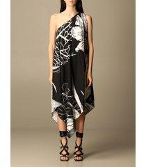 just cavalli dress just cavalli one-shoulder midi dress