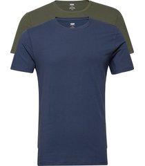 slim 2pk crewneck 1 2pk slim c t-shirts short-sleeved blauw levi´s men