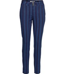 blake stripe pant pantalon met rechte pijpen blauw mos mosh