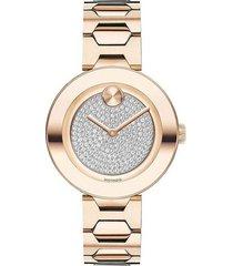 reloj  movado 3600493 rosa acero inoxidable