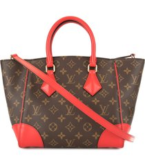 louis vuitton pre-owned phenix pm 2way tote bag - brown